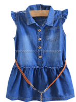 girls jeans light denim children's dress kids denim dress denim blouse