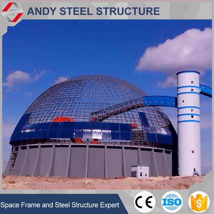 Large Span Steel Dome Type Space Frame Roof Design