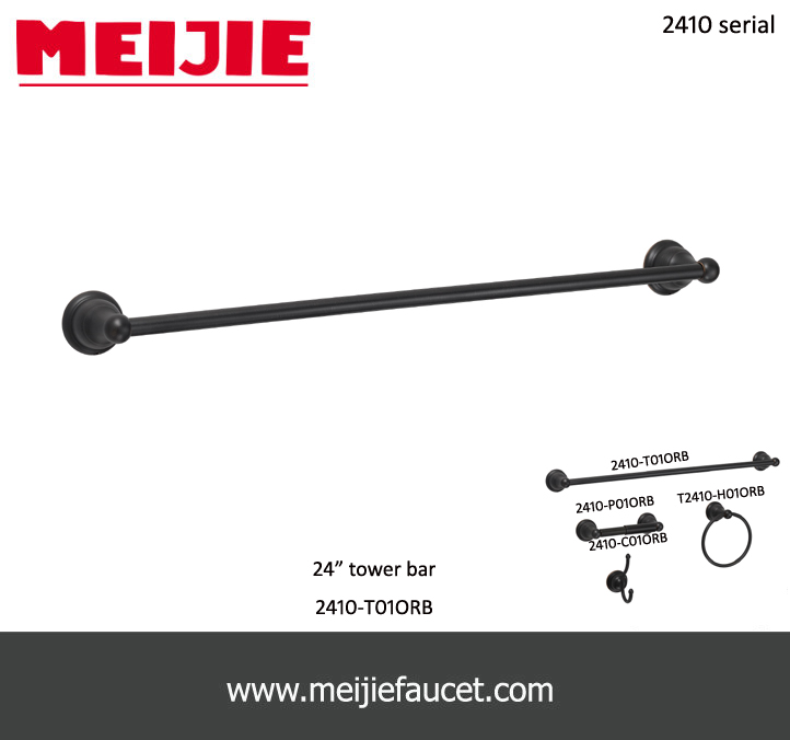 Modern Wall mounted towel bar bracket oil rubbed bronze finished