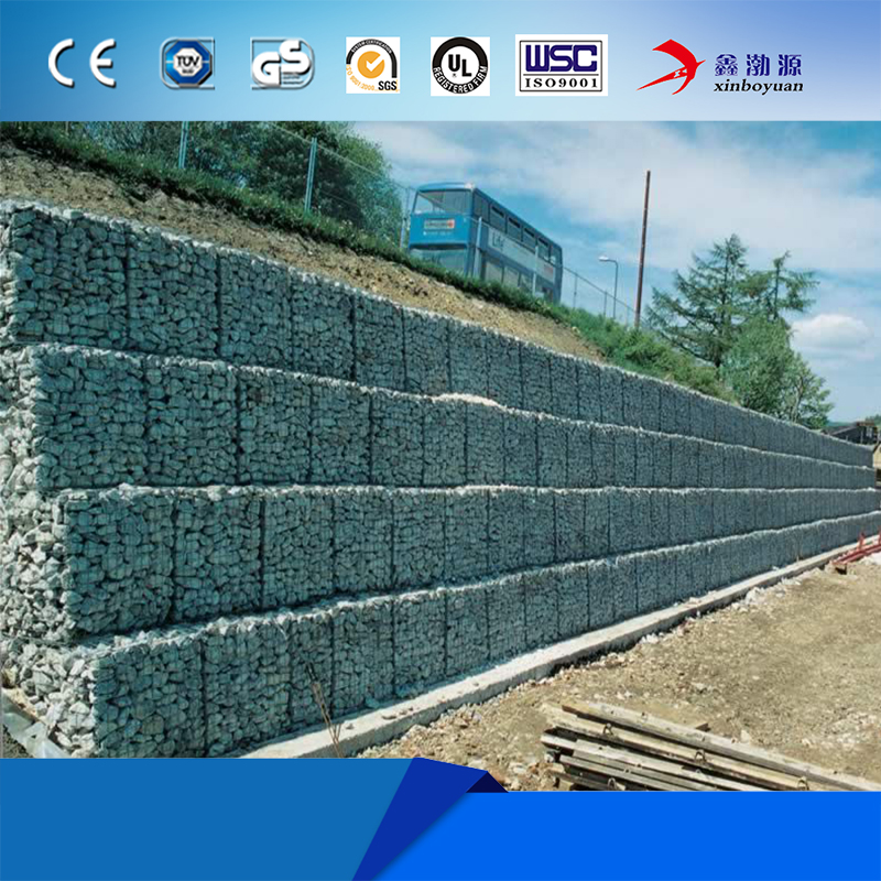 Anping xinboyuan river bank protect decoration wall fencing galvan stone gabion