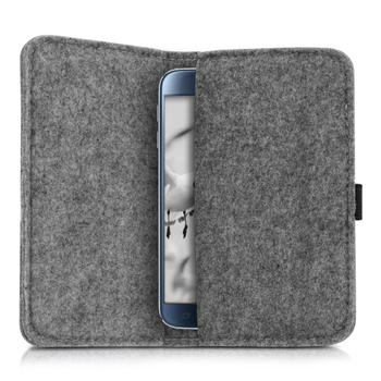 Simple fashion style felt wallet for passport travel bag