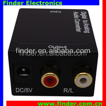 Digital Optical Coaxial to Analog Audio RCA Signal Converter