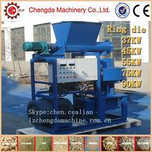 55kw automatic lubrication ring die Palm fiber pelletizer with CE