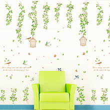 Birds and fragrant flowers wall sticker home decor Item SIS-19 stock for retail selling