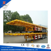 FUWA/BPW/JOST Axles 60Ton Flatbed Container Semi trailer with air suspension