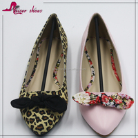 SSKG16-280 leopard pu women flat shoes, buy lady shoes online, pointy new model shoes