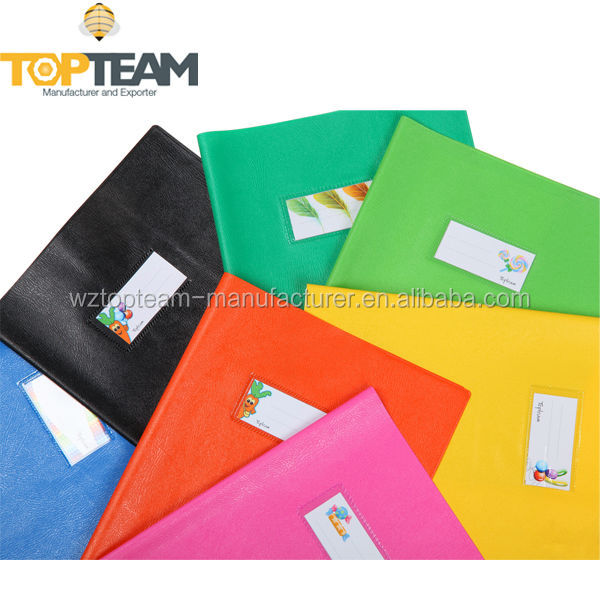 BTS/PROMOTION/WHOLESALE, Colorful Embossed Leather Grain Vinyl Book Cover, Front Insert Card Pocket Bookcover