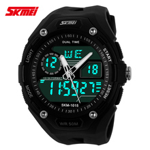 china brand stainless steel mens sports watch double time 5atm day/date /week