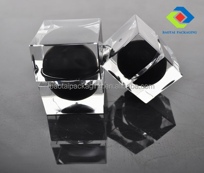 luxury cosmetic jars square bottles and cream jars for plastic cosmetic packaging