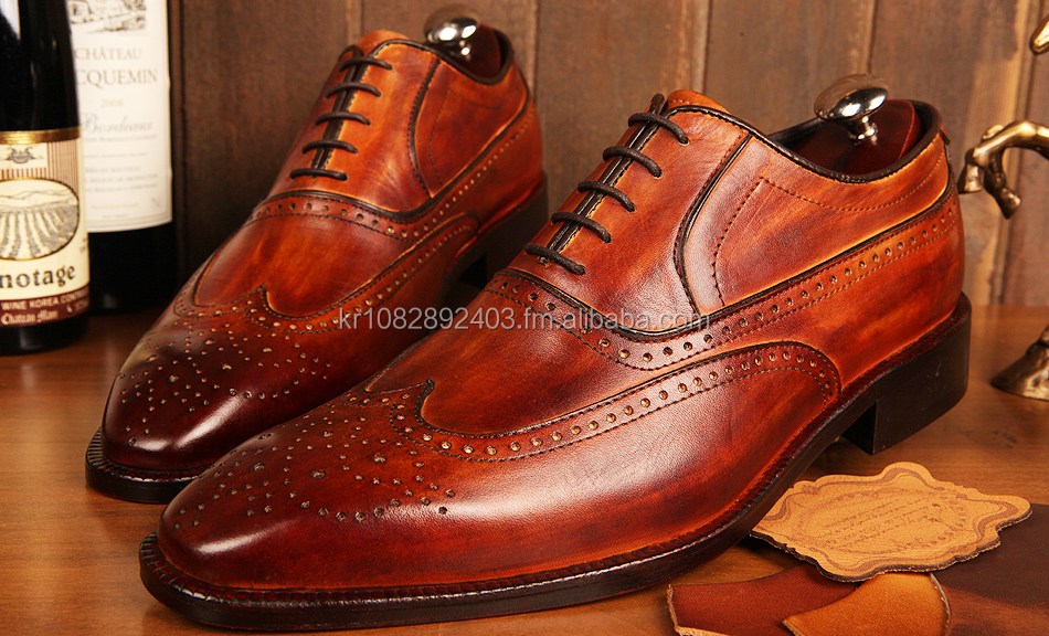 Handmade genuine leather shoes for men