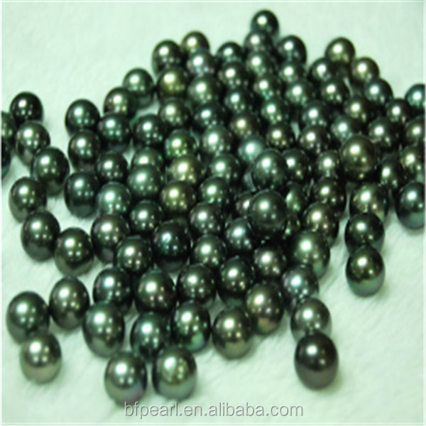 Wholesale Peacock Green Undrilled Loose Tahitian Pearls 11-12mm AAA