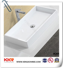 Chinese price new model round above counter hand wash basin/sink designs for dining room