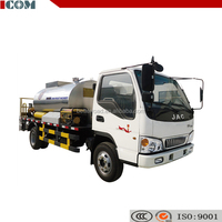 Asphalt crack sealing and spraying machine