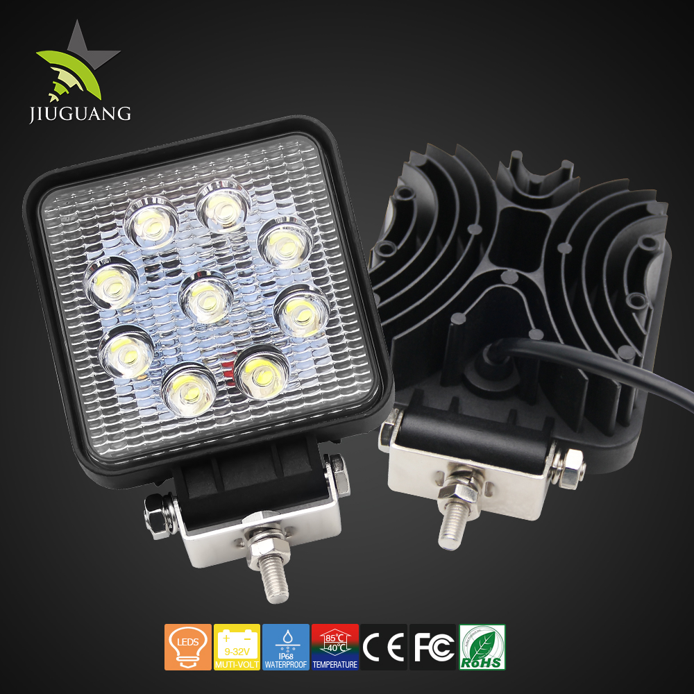 High Intensity Epistar 27W 1836lm 4.3 Inch Super Bright Led Work Light Dot For Jeep Offroad
