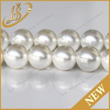 Wholesale 8mm perfect round shell loose pearl large hole pearl beads