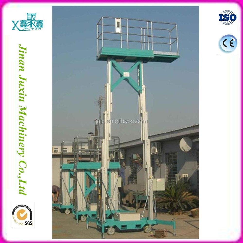 Two mast aerial working platform aluminum man lift