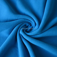 100D 144F microfiber use for cloth and blanket anti pilling blue knitted polar fleece fabric
