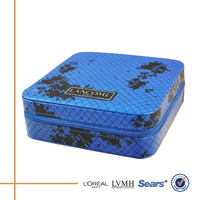 China new innovation design leather zipper type blue box for packing
