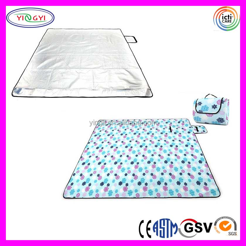 C706 Warm Fleece Aluminum Foil Pad Blanket Yoga Water-resistant Outdoor Foldable Mat Yoga Blanket