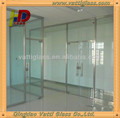 Modern Simple Style Office Interior Partition Sliding Door with Tempered Glass