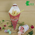 New product fries paper cone box with sauce dip