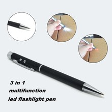 (1500384) Aluminum Case Novelty Portable Clip Torch Pen with LED Light