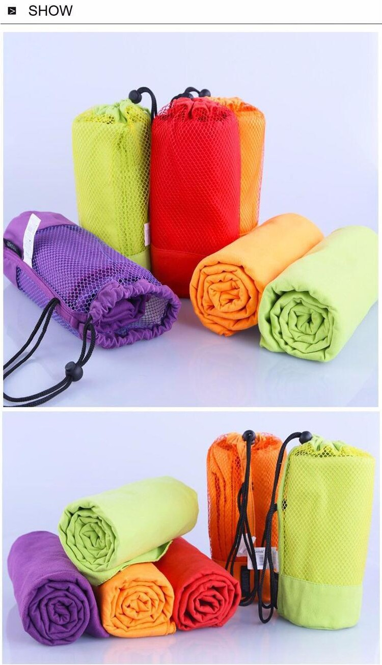Outdoor Sports Beach Microfiber Towels / Ultra Compact Absorbent Fast Drying Travel Sports Towels / Swimming Yoga Hand Towels