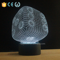 Arcylic changeable color sunlight night light factory price