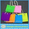 shengjie new arrival colorful silicone tote bag for beach travel