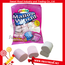 Steamed Bun Shaped Marshmallow Halal Cotton Candy