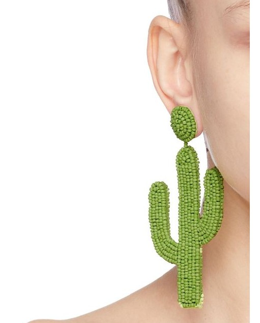 KDA9961 fashion latest handmade bead cactus earrings