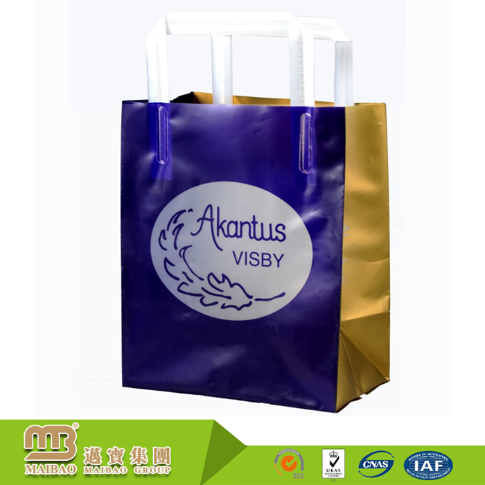 Multi-color & style new fashion biodegradable eco-friendly high quality pe hd flexiloop bags