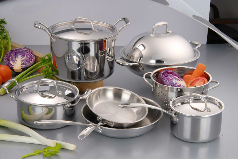 magnetic italian stainless steel cookwares