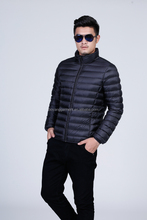 black cute men winter down coat and jackets