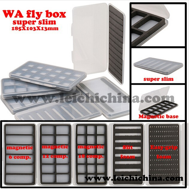 Super slim high quality plastic fly box fly fishing box