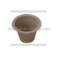 eco-friendly molded pulp flower pot