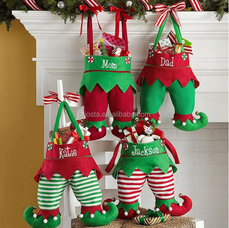 Personalized Christmas Jingle Bell Elf Stockings