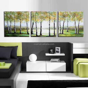 Xiamen manufacturer handmade beautiful scenery oil painting on canvas
