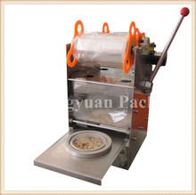 Stainless steel portable manual type paper cup sealing machine/sealer