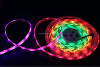 led technik ws2811 individual addressable led strip;DC5V input; 5m/roll;White PCB;Waterproof silicon coating IP65