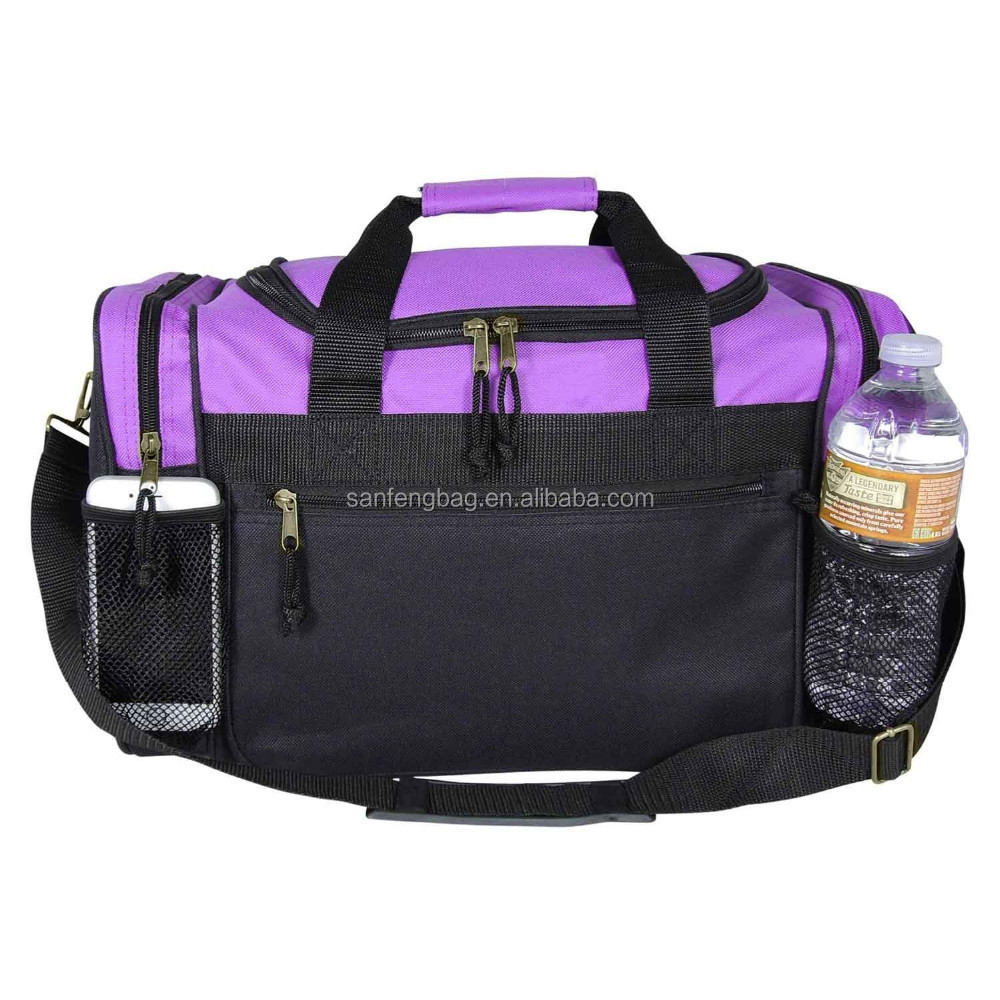 "2016 BSCi Aduit 17"" Duffle Bag With Mesh Pockets for Water Bottle and Kids Printing Backpack"
