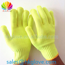 2014 NEW Hi-Vis Fluorescent Yellow Safety Working Gloves HK6061