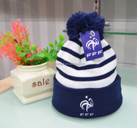 Custom Knitted Winter Hats/Beanie, 100% Acrylic/Cotton world cup football team fans beanie, Scarf & Hat
