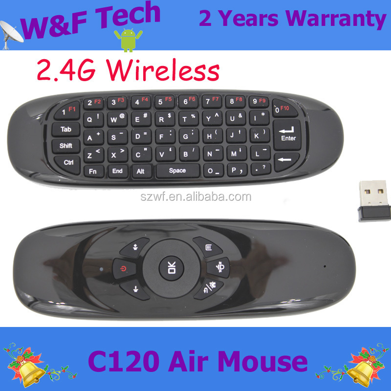 2016 C120 fly air mouse 2.4g mini wireless keyboard and mouse