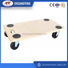 MDF board wooden dolly/wooden tool cart/furniture moving cart