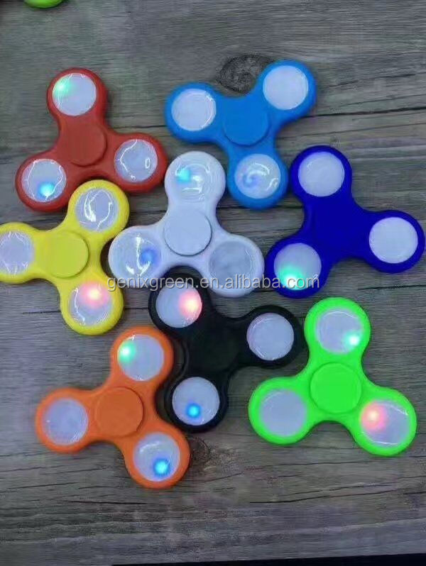 Promotional Items Tri Spinner With High Quality LED Light Toys Spinners Fidget