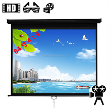 "Manual Projection Screen Factory / Projection Screen With High Gain Matte White 100""(4:3) 200x150cm"