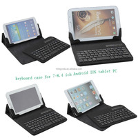 Universal Wireless Bluetooth Keyboard Leather Case for 7-8 inch IOS Android tablet pc