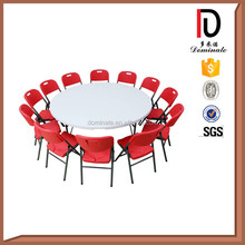 Round Plastic Table with folding legs