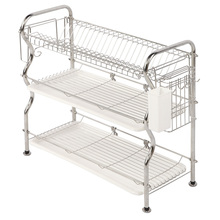 XM_445F 3 tier kitchen dish drainer plate dish drying rack holder
